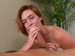 Busty alluring peaches slut Jodi gives a lasting stiff veiny dicked