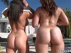 Jenna Presley increased by Bella Foxx are frolicsome lesbian women back
