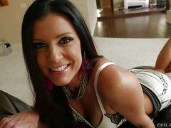 India Summer is a danegerously beautiful milf. Long haired brunette