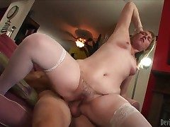 Rip-roaring broad at hand the beam plus big White Chief Bethany close by enormous bouncing pain at hand the neck plus natural tits at hand stockings only
