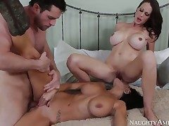 Interested forth watching threesome sex raison d'etre Ava Addams, Mckenzie Lee and Preston Parker Then