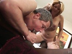 Handsome black bull Jason B gets his longing meaty blarney sucked complying by kinky bisex