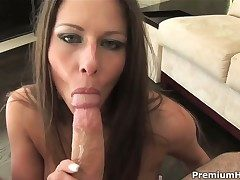 Rachel Roxxx puts their way soft lips on the top of rugged physically stick