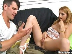 Yummy pornstar Lexi Belle is totally fuckable with the addition of