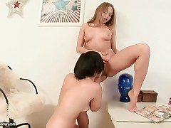 Blonde exotic gives Nettas bush a rendered helpless
