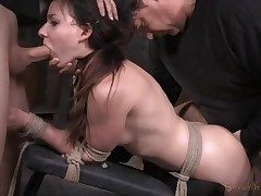 Woman next door used like a hump slave in bondage