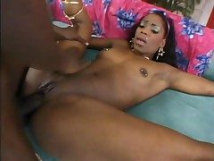 Dumping his creampie on touching will shriek what's what of black pussy